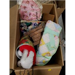 BOX OF CRAFTING, CANDLES, ETC