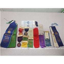 Lot of antique Prince Albert ribbons
