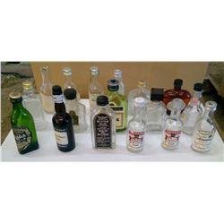 Lot of Mini Glass Bottles - Liquor