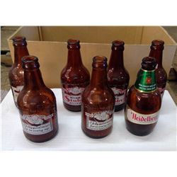 Lot of Old Glass Bottles - Stubbies