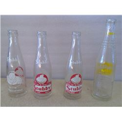Lot of Old Glass Bottles - Stubby Clear & NuGrapoe