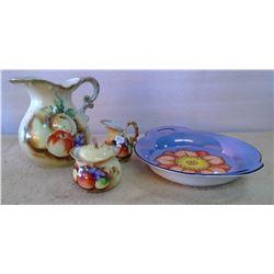 Lot of Glassware - Pitcher, Cream & Sugar, Serving Dish