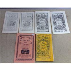 Lot of Old Farmer's Almanacs - 1800's & 1900's