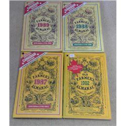 Lot of Old Farmer's Almanacs - 1980's