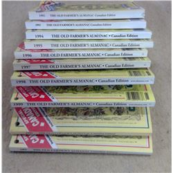 Lot of Old Farmer's Almanacs - 1990's