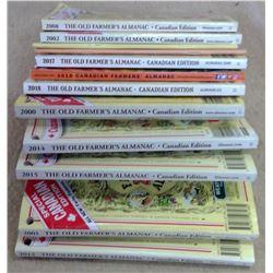 Lot of Old Farmer's Almanacs - 2000's