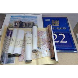 Diefenbaker Print  & RBC Metal Calendar…more