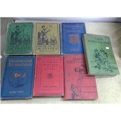 Lot of Old Schoolbooks - Hardcover