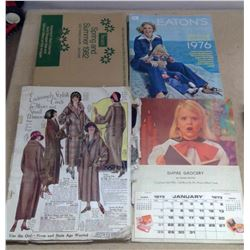 Lot of Old Catalogues (Eatons, Etc.) & Calendar