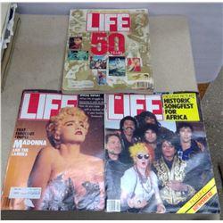 Lot of 3 LIFE Magazines