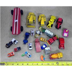 Lot of Toy Cars, Tractors, & Misc.