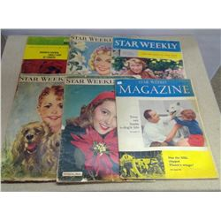 Lot of 6 Star Weekly Magazines