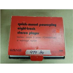 Quick-Mount Powerplay 8 Track Stereo Player