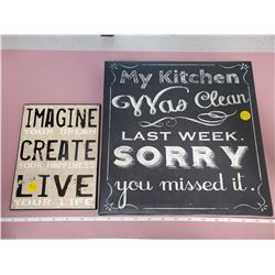 2 home decor signs