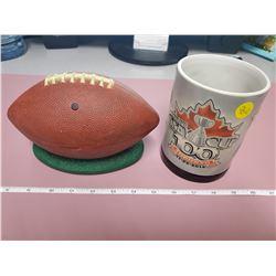 singing football/CFL Grey cup mug