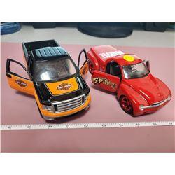 2 Die cast trucks
