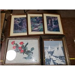 LOT OF PICTURES & FRAMES