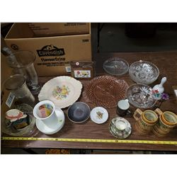LOT OF COLLECTIBLES & GLASS