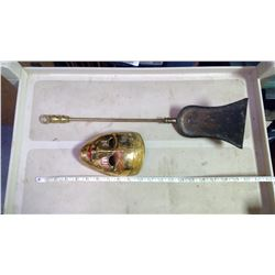 Decorative Mask (made in India) and Chimney Scoop