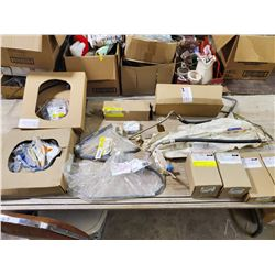 BOX OF GM VEHICLE PARTS (AC DELCO, ETC)