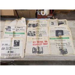LOT OF P.A. DAILY HERALD NEWSPAPERS FROM 1960'S