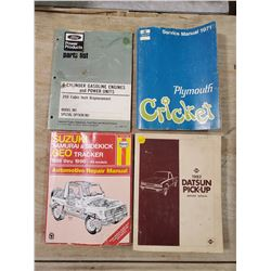 ASSORTED PARTS CATALOGUES (FORD, PLYMOUTH, SUZUKI, DATSUN)