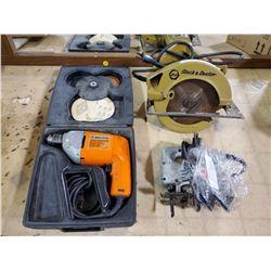 Black & Decker drill, circular saw, jig saw (all working)