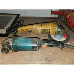 2 grinders (dewalt & makita w/ no cord)