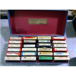 Lot of Vintage 8 Tracks & Case