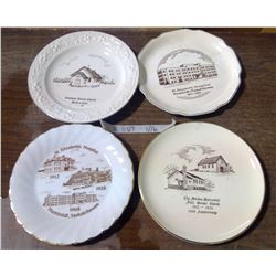 Lot of 4 Decorative Church Plates