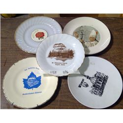 Lot of 5 Decorative Church Plates
