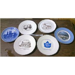 Lot of 6 Decorative Church Plates