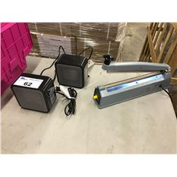 IMPULSE SEALER AND 2 HEATERS