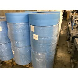 PALLET OF BLUE NON WOVEN MASK FABRIC