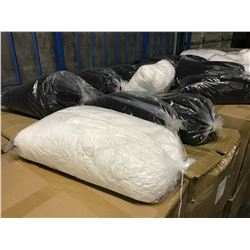 PALLET OF WHITE/BLACK EAR LOOP ELASTIC CORD