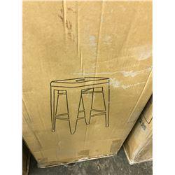 4 BLACK BAR HEIGHT STOOLS IN BOX