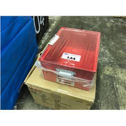 LOT OF 3, 16L METAL STORAGE BOXES