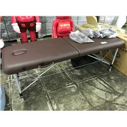 BROWN PORTABLE MASSAGE TABLE