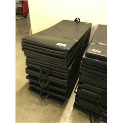STACK OF APPROX. 20 GYM MATS