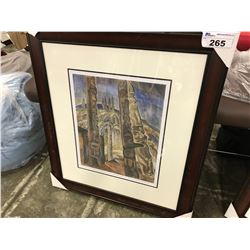"EMILY CARR LIMITED EDITION PRINT "" KITWANNOOL' 301/950"