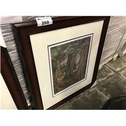 "EMILY CARR LIMITED EDITION PRINT ""WOOD INTERIOR 1909"" 307/950"