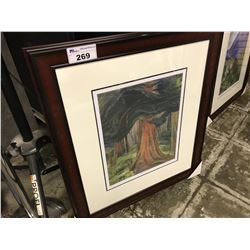 "EMILY CARR LIMITED EDITION PRINT ""RED CEDAR 1931"" 307/950"