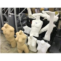 LOT OF MANNEQUINS AND STORAGE UNIT