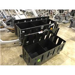 BLACK 6 COMPARTMENT STORAGE UNIT