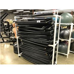 2 TIER MOBILE PVC RACK WITH APPROX. 38 MATS