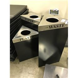 4 WASTE RECEPTACLES