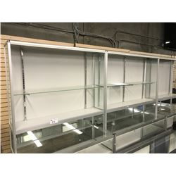 LOT OF 3 6' H DISPLAY CASES