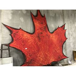 2010 VANCOUVER OLYMPICS LARGE MAPLE LEAF APPROX. 20'X20'