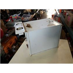 WHITE WEATHER GUARD STORAGE CONTAINER WITH CLIPBOARD
