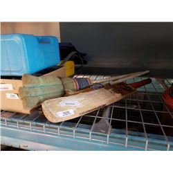 CRICKET RACKET AND CURLING BROOMS